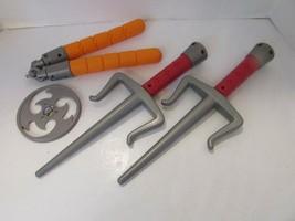 2012 PLAYMATES TOYS TEENAGE MUTANT NINJA TURTLES TOYS NUNCHUCKS KNIVES D... - $24.45