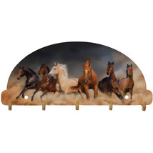 Horses Key Rack Wild Western Mustang Wall Art USA - $29.99
