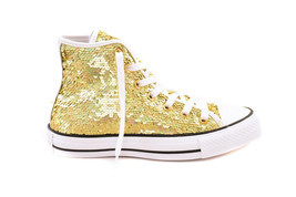 Converse Womens CTAS HI 553439C Sneakers Gold Size US 6 RRP $134 - $69.00