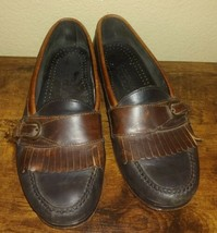 Men's Cole Haan Loafers Black Brown size 10 dress shoes - $24.70