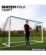 QuickPlay PRO Match-Fold Portable Soccer Goal Range with Carry Bag [Single - $373.85