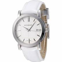 NWOT Burberry BU1380 Womens' Swiss Quartz White Patent Leather Watch - $247.45