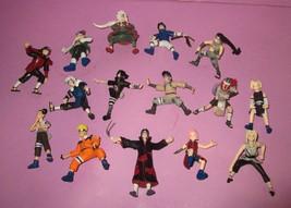 Huge Naruto 2002 Action Figure Mattel Ino Choji Sakura Sasuke 15 Pc Lot - $110.00