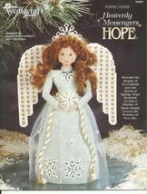 Hope Heavenly Messenger Angel Plastic Canvas Pattern - $5.00