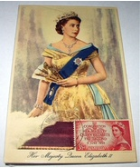 1953 CORONATION QUEEN ELIZABETH ISSUED STAMP PC - $35.00