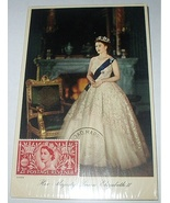 1953 CORONATION QUEEN ELIZABETH ISSUED STAMP PC - $25.00