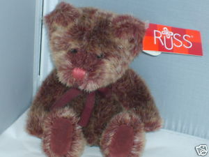 RUSS BERRIE PLUSH TEDDY BEARS FROM THE PAST NWT MINT