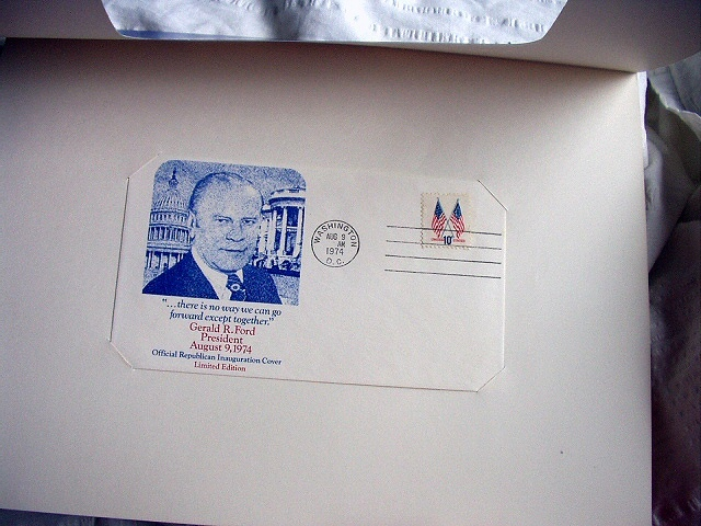 1974 OFFICIAL LIMITED EDITION INAUGURAL COVER-GERALD FORD