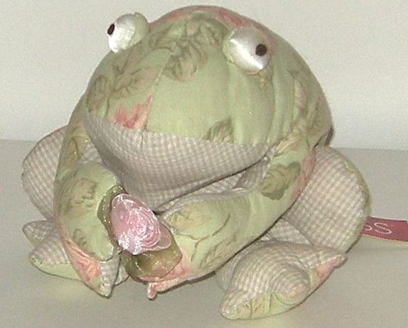 1/2 off! Large Russ Florrie Stuffed Victorian Floral Frog NWT