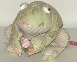 1/2 off! Large Russ Florrie Stuffed Victorian Floral Frog NWT - $5.00