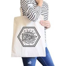Stay Salty Cute Beach Tote Bag Natural Perfect Summer Gift Ideas - $15.99