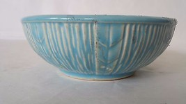 "Vintage McCoy USA 5 3/4"" Blue Textured Pottery ... - $14.84"