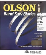 "Olson Band Saw Blade 111"" inch x 3/16"",10TPI for Rikon 10-325, Grizzly G1538 - $19.99"