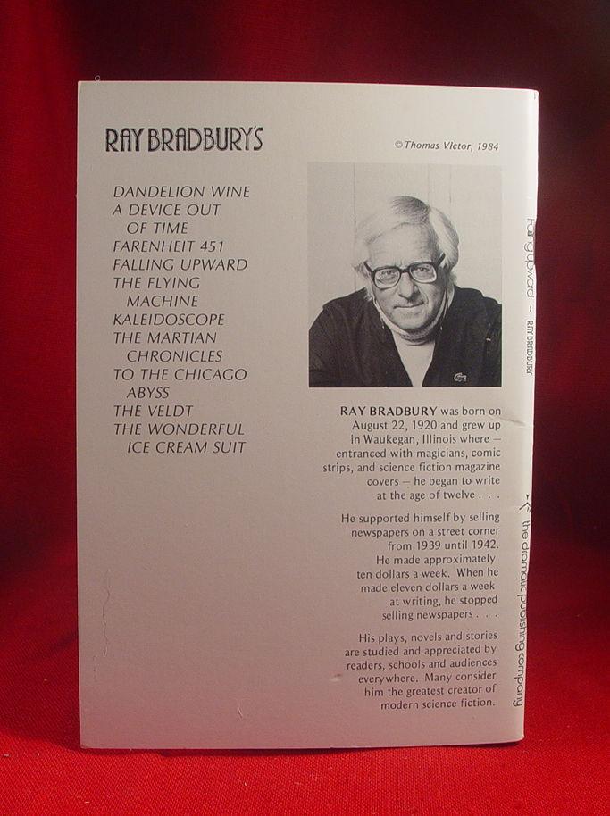 Ray Bradbury FALLING UPWARD play book signed and inscribed