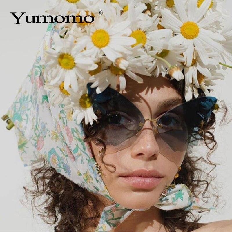 ladies luxury brand designer fashion oversized steampunk sunglasses cat eye retro glasses uv400