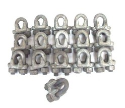 """LOT OF 16 NEW 5/8"""" FORGED WIRE ROPE CLIP CABLE CLAMPS"""