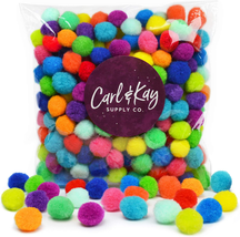 Carl  Kay [250 Pcs] 1 Inch Pom Poms In Bright  Bold Assorted Colors, Cra... - $16.62
