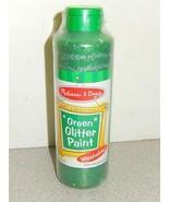NEW MELISSA & DOUG- 4214- GREEN GLITTER POSTER PAINT - $4.30