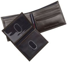 NEW TOMMY HILFIGER MEN'S LEATHER CREDIT CARD WALLET PASSCASE BILLFOLD 5675-02 image 3
