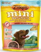 Zuke's Mini Naturals Moist Miniature Treat for Dogs Savory Salmon 6 oz. ... - $5.79