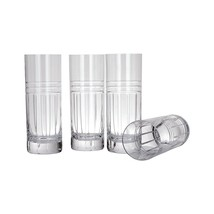 "Reed & Burton ""Tempo"" Euro Set Of 4 Highball Crystal Made In Slovenia New. - $392.90"