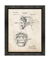 Baseball Mask Patent Print Old Look with Beveled Wood Frame - $24.95+
