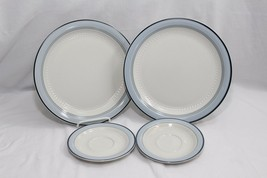 Crowning Fashion Haviland Mountain Sky Dinner Plates and Saucers Lot of 4 - $36.25