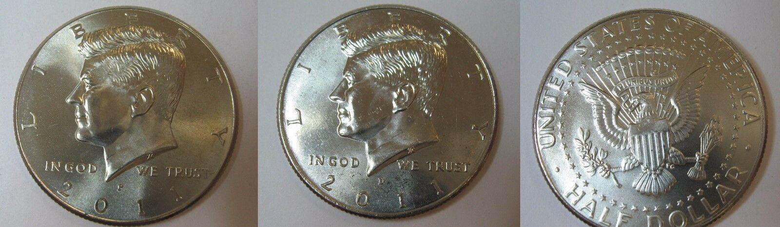 2011 P and D  BU Kennedy Half Dollar from US Mint Roll CP2439