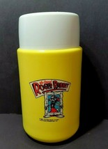 Vintage 1987 Roger Rabbit Yellow Thermos With Lid - $20.69