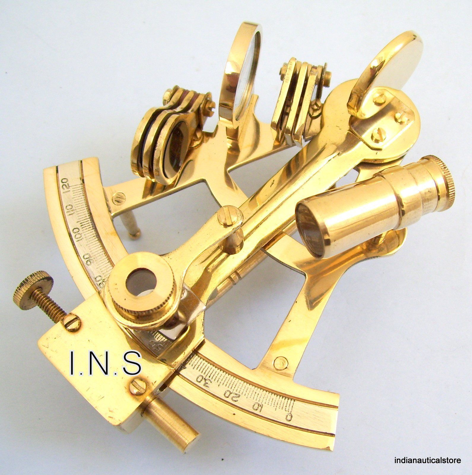 "Nautical Marine Navigational Astrolabe Instrument Brass Sextant 8/"" Antique Gift"