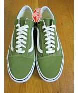 Vans Mens Old Skool Winter Moss Green True White Canvas Suede shoes Size... - $64.34