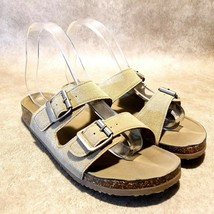Madden NYC Womens Breckk Sz 8 M Brown Double Strap Footbed Sandal - $24.99