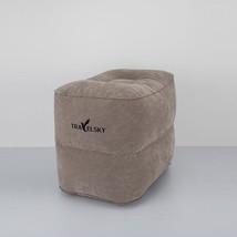 Large Valve Travel Inflatable Pillow Airplane Footrest Sleeping Flocking... - €15,67 EUR+