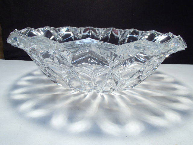 Huge J. G. Durand Crystal Center Bowl in Orig. Box ~~~ Calliope ~~ A Beauty