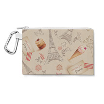 Love From Paris Canvas Zip Pouch - $15.99+