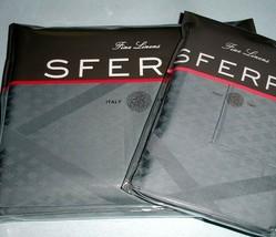 Sferra Avellina Lattice F/Queen Duvet Cover 3 PC. Set Ice Blue Cotton Sateen New - $338.90