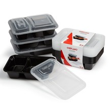 10 Pack BPA Free Meal Prep Containers 2 Compartment Microwavable Food Lu... - $15.00