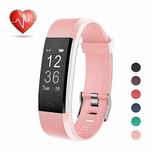 LETSCOM Fitness Tracker HR, Activity Tracker Watch with Heart Rate (Pink) - $45.66