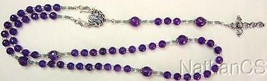 Wearable Catholic  Rosary Faceted Amethyst and Sterling Silver - $123.75