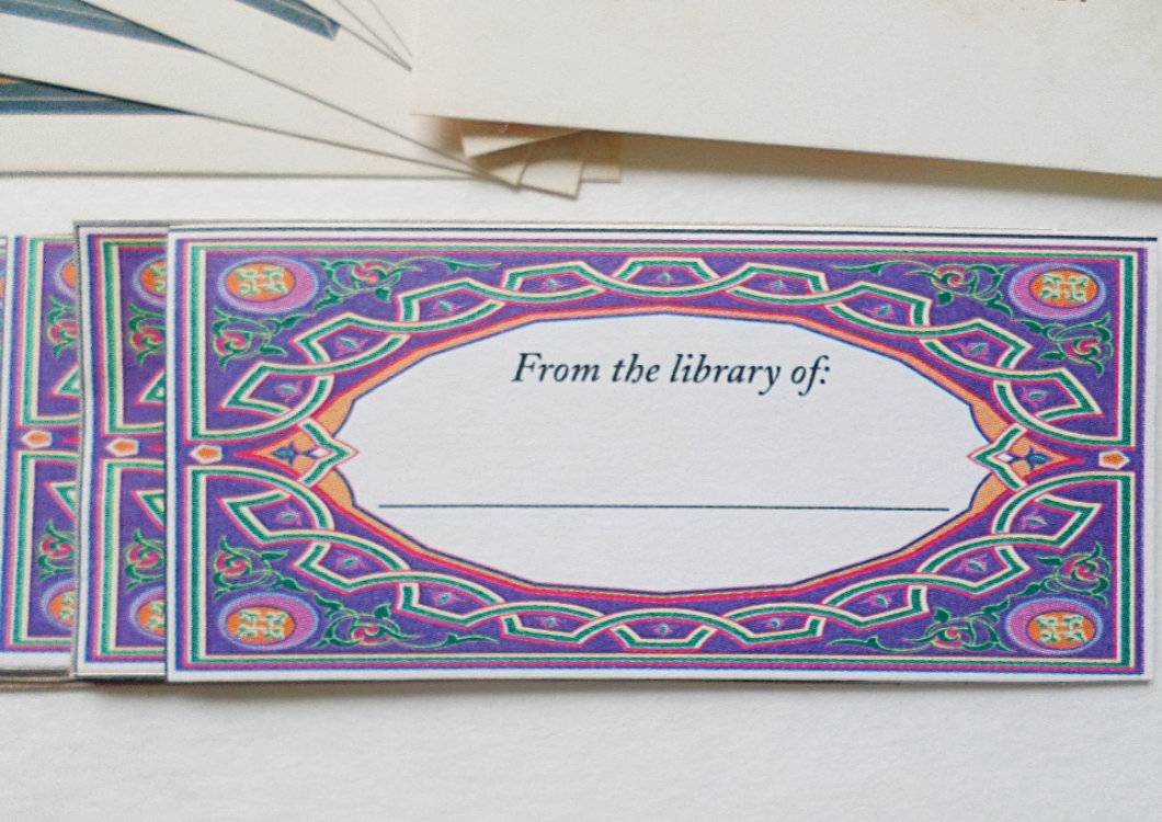Labels For Your Books, Peel And Stick Book Plates, From The Library Of Labels