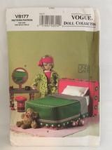 "Vogue 8177 18"" Doll Bedroom Pattern Bed Bedding Vanity Stool Furniture Fashion - $14.84"