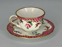 Royal Worcester Demitasse Cup & Saucer - Worcester Flowers 1990 - $27.83