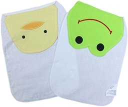 2 Lovely Duck/Frog Baby Cotton Gauze Towel Wipe Sweat Absorbent Cloth Mat Towel