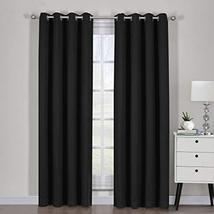 "54""x84"" Pair Black Blackout Weave Curtain Panels with Tie Backs Pair (Se... - $55.44"