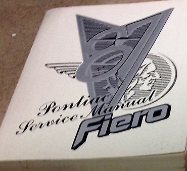 1987 PONTIAC FIERO Service Shop Repair Workshop Manual OEM