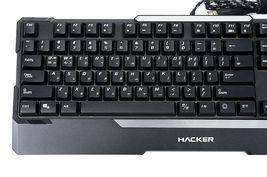 Abko Hacker K300 English Korean Plunger LED Wired Gaming Keyboard image 6