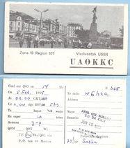 1965 Vintage Photo Postcard Vladivostok USSR QSL Card UA0KKC - $18.99