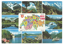 1982 Real Photo Postcard Switzerland Mountains WALTER KONZlER QSL HB9CMM - $15.99
