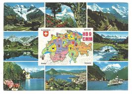 1982 Real Photo Postcard Switzerland Mountains WALTER KONZlER QSL HB9CMM - $15.99