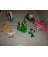 The Little Mermaid Ariel Playset/ 8 Figure Cake Topper & shell that opens + - $8.90
